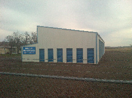 A photo of the sprague storage facility. Six storage units shown.