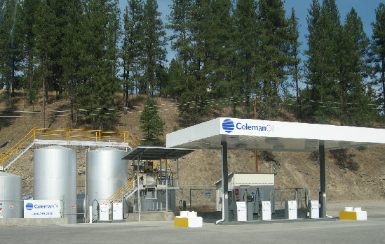 This is a photo of a bulk plant and cardlock located in Coleman Oil's fueling network.
