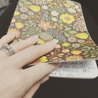 The journal I used after my first miscarriage.
