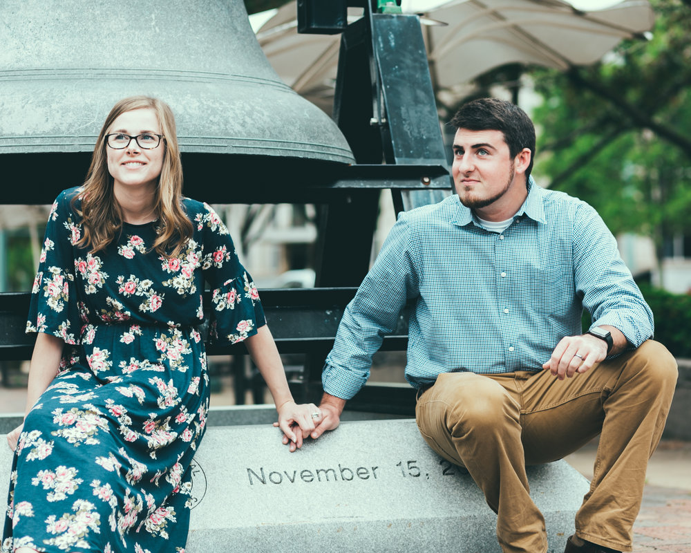 We recently had this photo taken by  Loyd Photography . As we walked around downtown Canton, OH we saw this with the date of our first miscarriage on it. I love this photo <3
