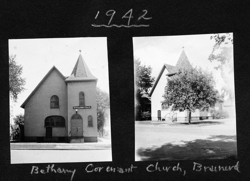 One of Ernie Rockstad's first pastorates, Bethany Covenant Church, in Brainerd, Minnesota, 1942.