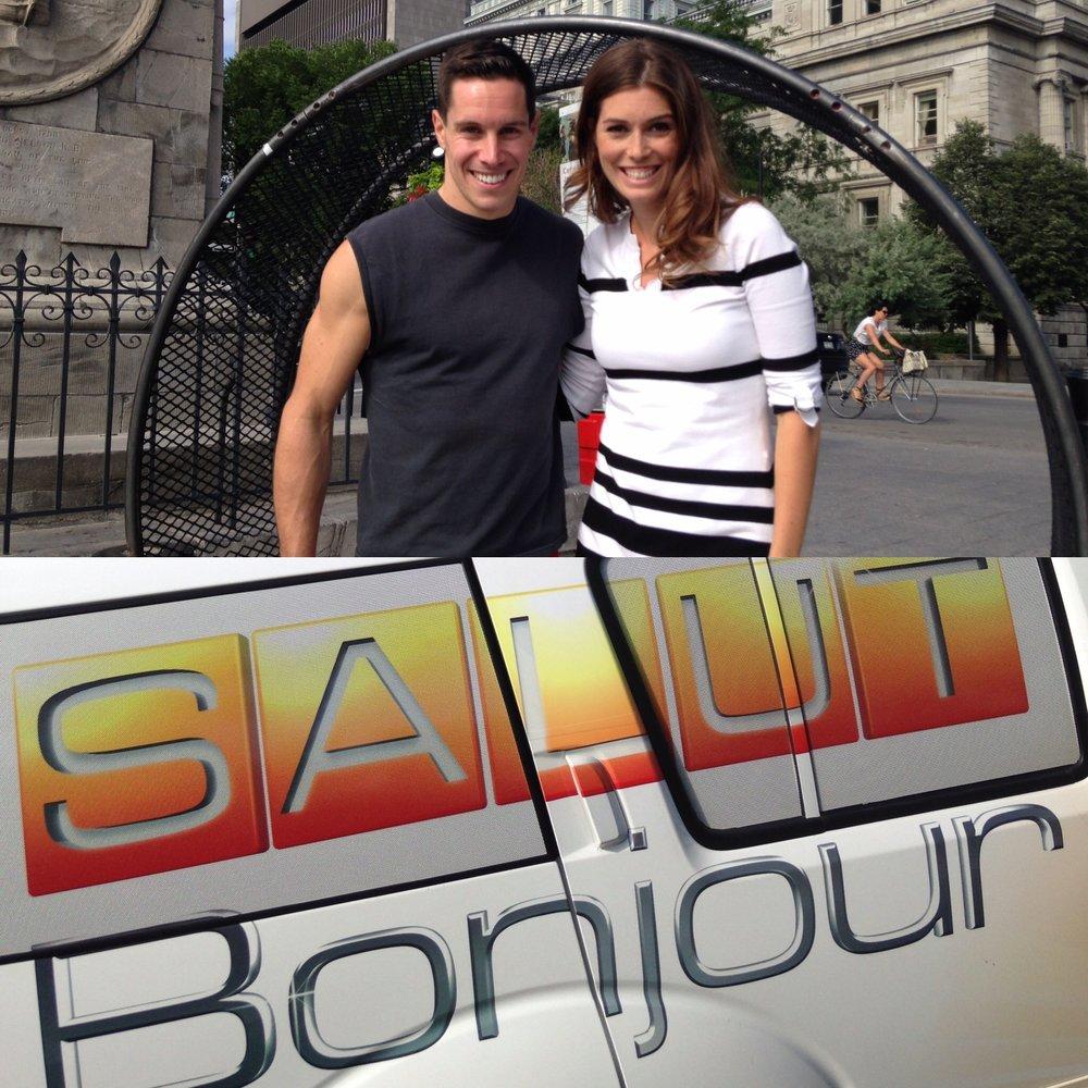 TV interview Salut Bonjour