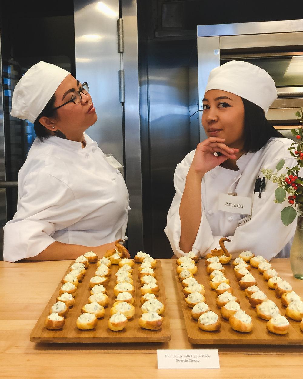 Hi, I'm Ariana (right). CCSF Culinary Program Grad, Institute of Culinary Education Grad in Culinary Arts, Food Photographer, and Food Pin Maker.