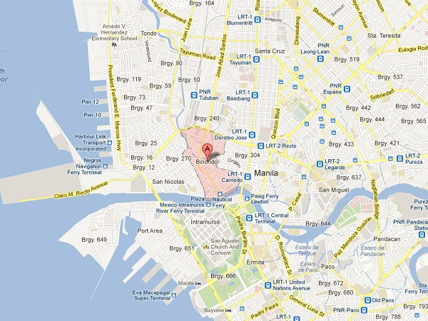 Map of Binondo via Inquirer.Net