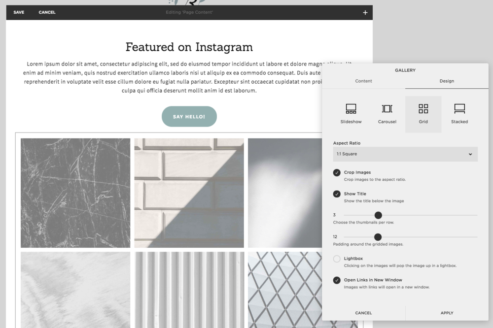 How to create an Instagram landing page on Squarespace with Ava And The Bee - Virtual Assistant | Apt. B Photography