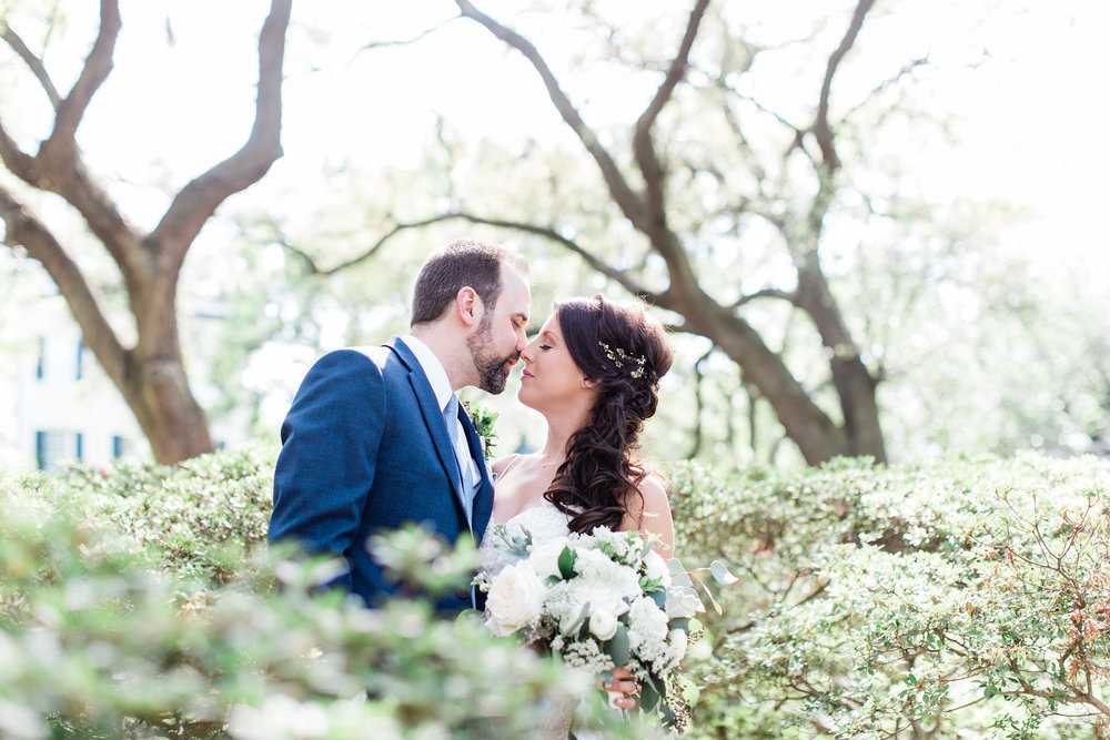 Michelle + Scott - Intimate Savannah Wedding at Soho South Cafe, lace wedding dress | Apt. B Photography