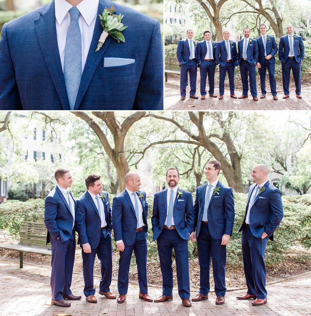 Michelle + Scott - Intimate Savannah Wedding at Soho South Cafe, Navy groomsmen | Apt. B Photography