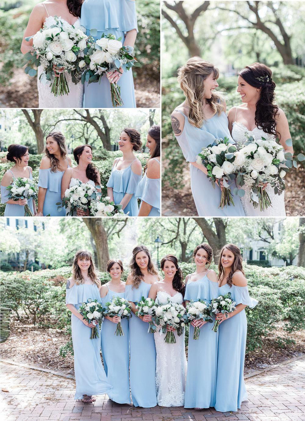Michelle + Scott - Intimate Savannah Wedding at Soho South Cafe, soft blue bridesmaids dresses | Apt. B Photography
