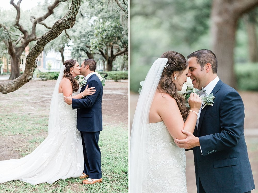 Danielle + Paul's First look- Savannah Wedding | Savannah Wedding Photographer | Apt. B Photography