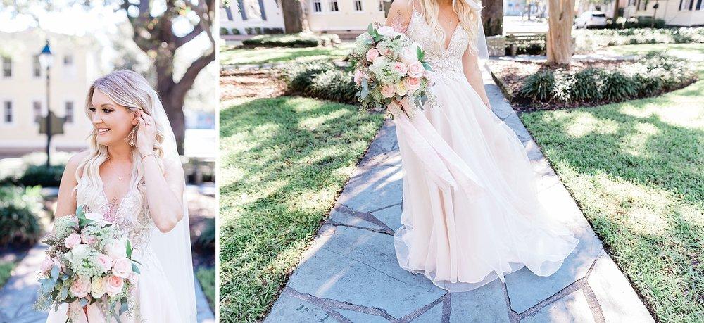 Carly + Clint's Savannah Elopement - Blush wedding dress | Apt. B Photography