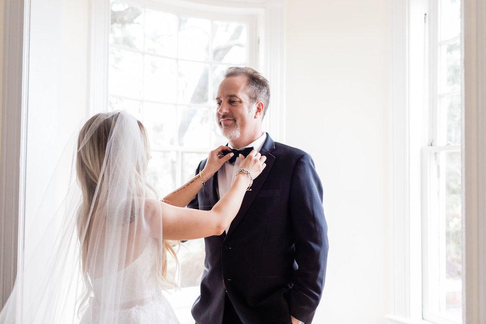 Maddy and Jon's Savannah Wedding - Father first look | Apt. B Photography