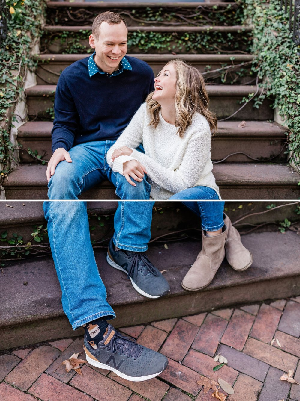 Heather and Carson's winter engagement session in Savannah - Savannah engagement Photographer | Apt. B Photography