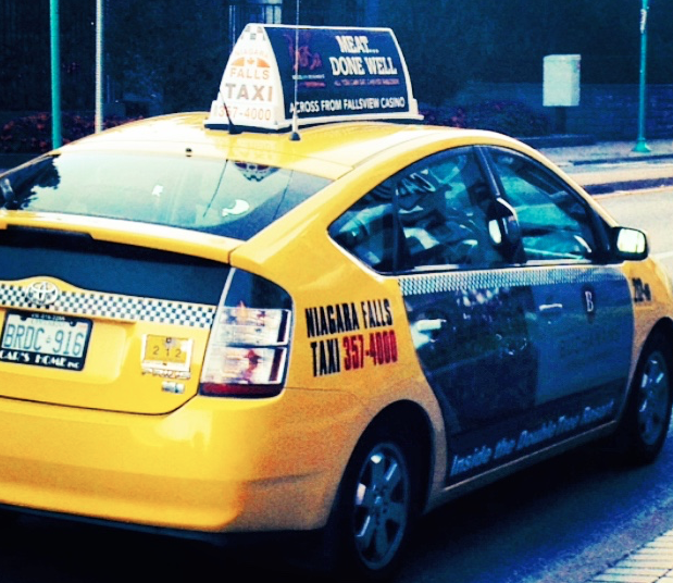 NIAGARA FALLS - Over 100 Cachi mirrors are installed on taxicabs in Niagara Falls, Ontario.