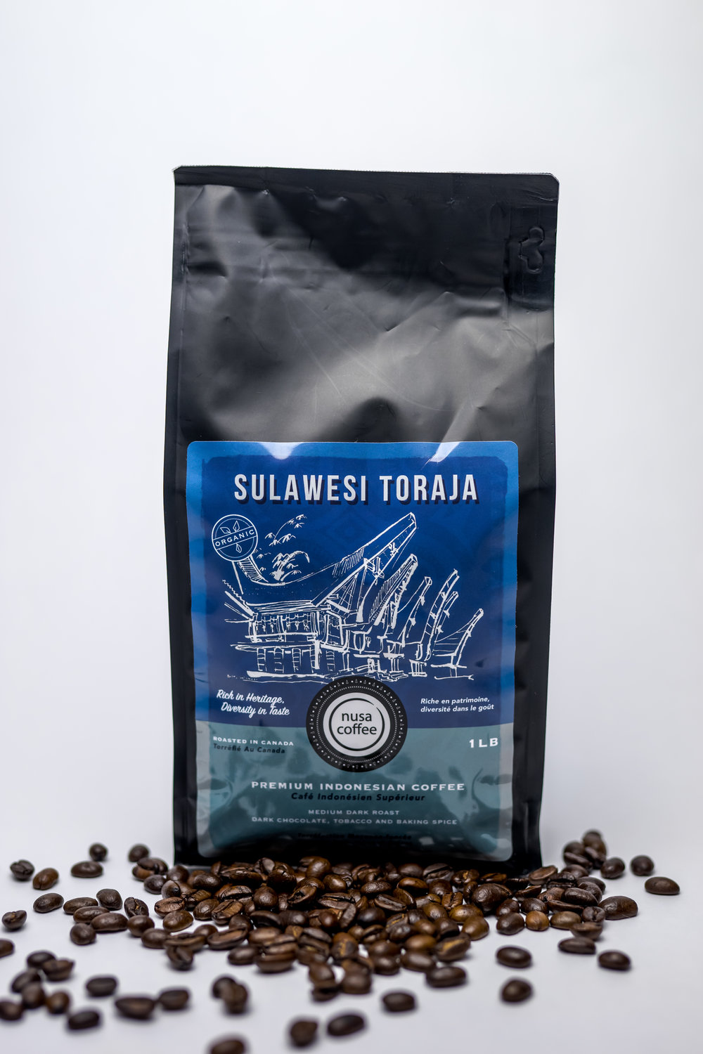 Sulawesi Toraja - Roasting Profile: Medium Dark - you taste most of roasted flavour (75%) with 25% of greens.Origin: Toraja Highlands is situated in Central Sulawesi.  Above 1400 metre elevation, the coffee plants are shade-grown with cacao, vanilla and other fruit trees were grown in between. The rich nutrients of volcanic soil also enhances the flavour of the beans. Earthy. Smooth. Balanced.  Processing Method: full wash - this is the widely accepted method for most coffee drinkers. It is generally smooth and balanced.