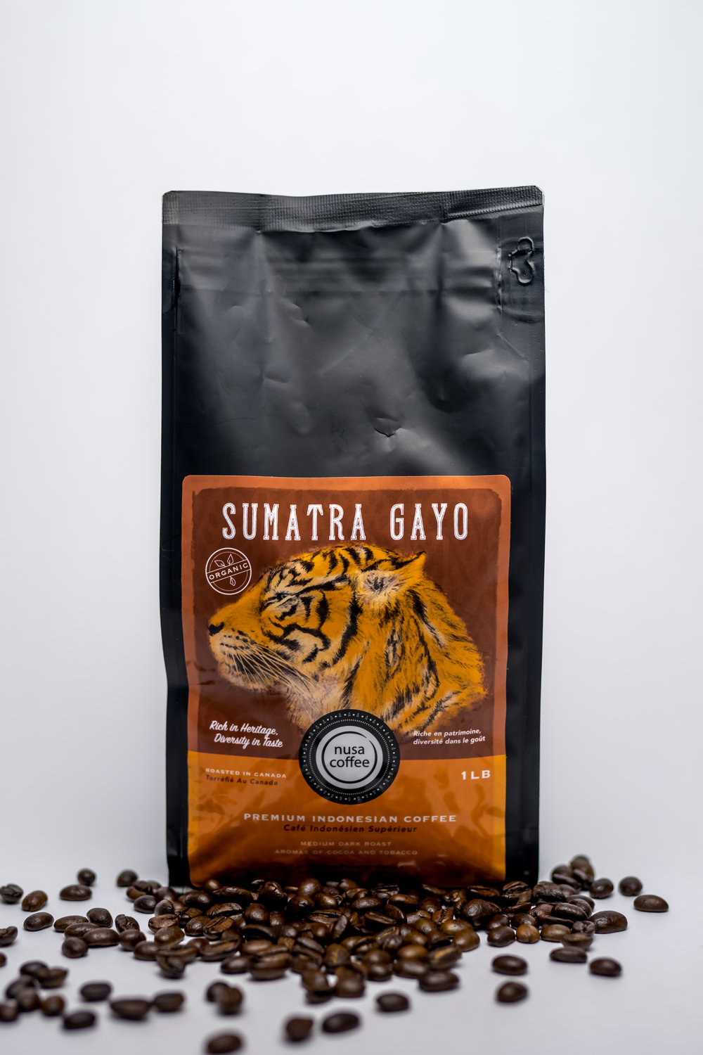 Sumatra Gayo - Roasting Profile: Medium - this allows the emergence of both roasted and green beans flavours.Origin: Gayo Highlands in Takengon, Central Aceh. About 1200 metre elevation, shade-grown coffee plants are among avocado, banana, papaya, and other fruit trees that influence the flavour and aroma of this grade 1 specialty coffee.Processing Method: wet-hulled, resulting in some bright, strong flavour from the high-grown area.