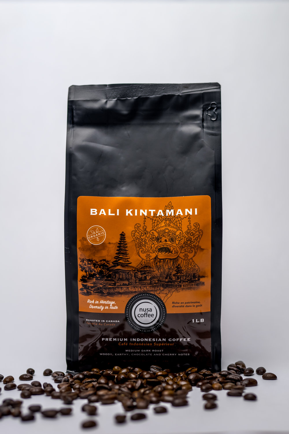 Bali Kintamani - Roasting Profile: Medium - this allows the emergence of both roasted and green beans flavours.Origin: Kintamani Highlands, Bali. About 122 metre elevation, shade-grown coffee plants are grown in between banana, citrus, and tangerine fruit trees; allowing equal harvest time for the fruits and the cherries which support the livelihood of farmers in this region.Processing Method: full wash - resulting in smooth, balanced, and fruity flavour.
