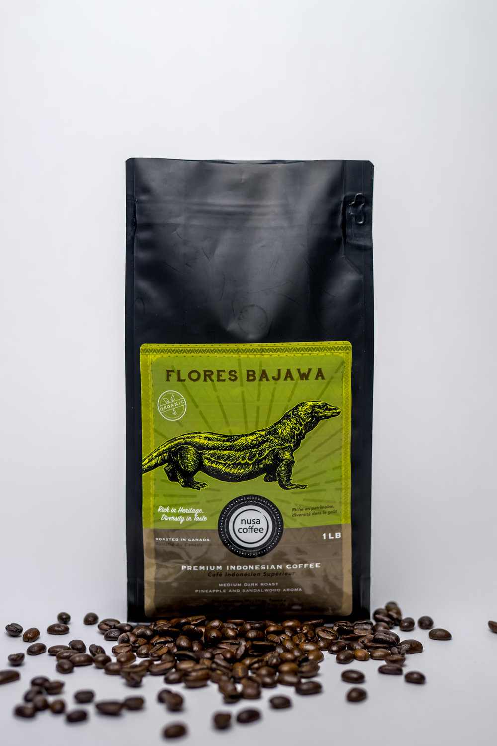Flores Bajawa - Roasting Profile: Medium - this allows the emergence of both roasted and green beans flavours.Origin: Family-owned farms located in the Ngada region of Flores, one of the big islands in the Lesser Sunda archipelago of Indonesia. Coffee plants are grown in volcanic loam at altitudes as high as 1600 metres. Attention to detail is reflected in the ripe cherry selection, raised bed drying, and triple hand-sorting. Notes of pineapple and sandalwood permeate.Processing Method: wet-hulled, handpicked, and dried in the sun.