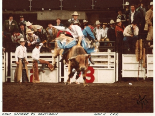 Cody riding Confusion to a 95....a CFR Record to this day!