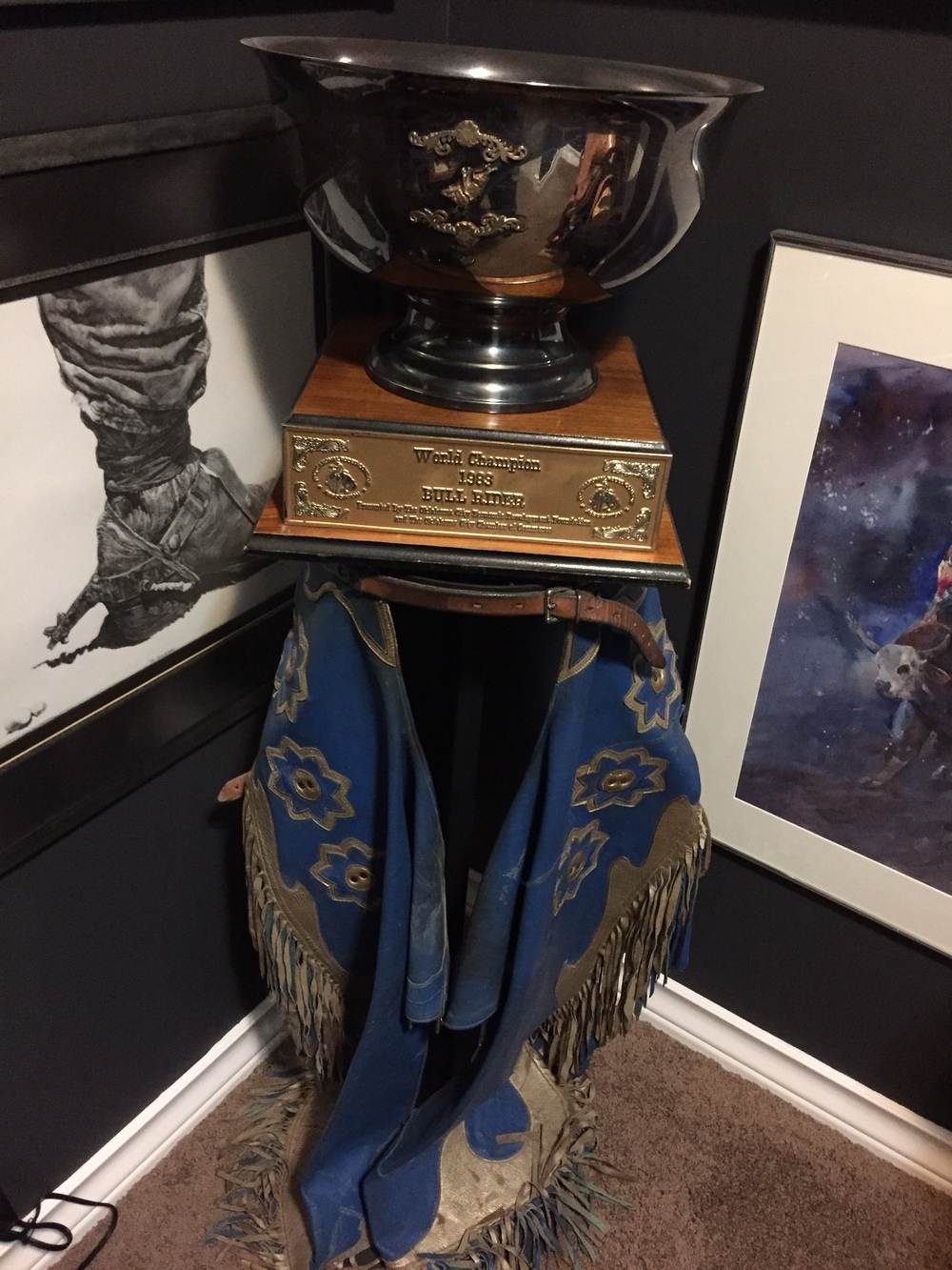 Cody's 1983 World Champion Cup, and the chaps he wore at that NFR when he became the World Champion!