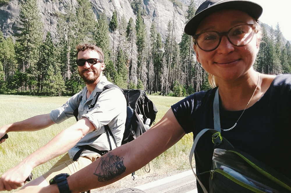 Hike your own hike. Rented bikes in Yosemite Valley. Best of times with Crazy Squirrel.