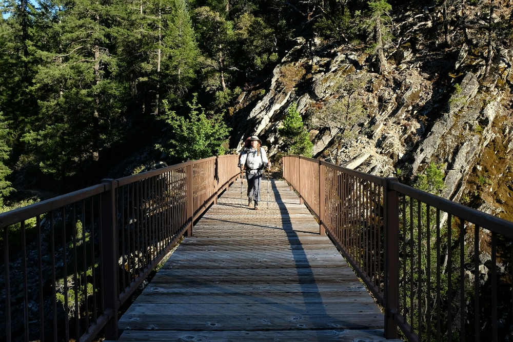 Katie at the Middle Fork Feather River Bridge.