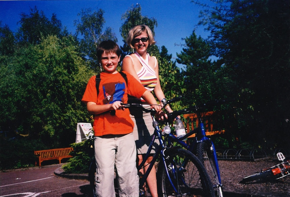Karen Slade and her son, Ian, for whom she searched on 9-11