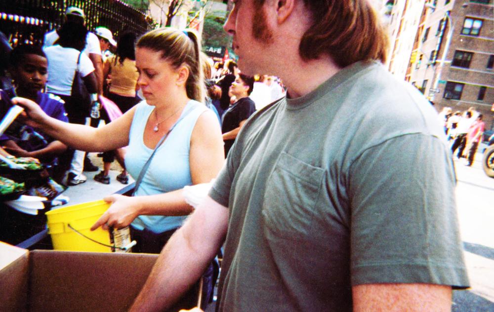 volunteers serving food after 9/11