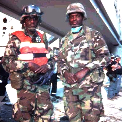 National Guard at Ground Zero after 9-11