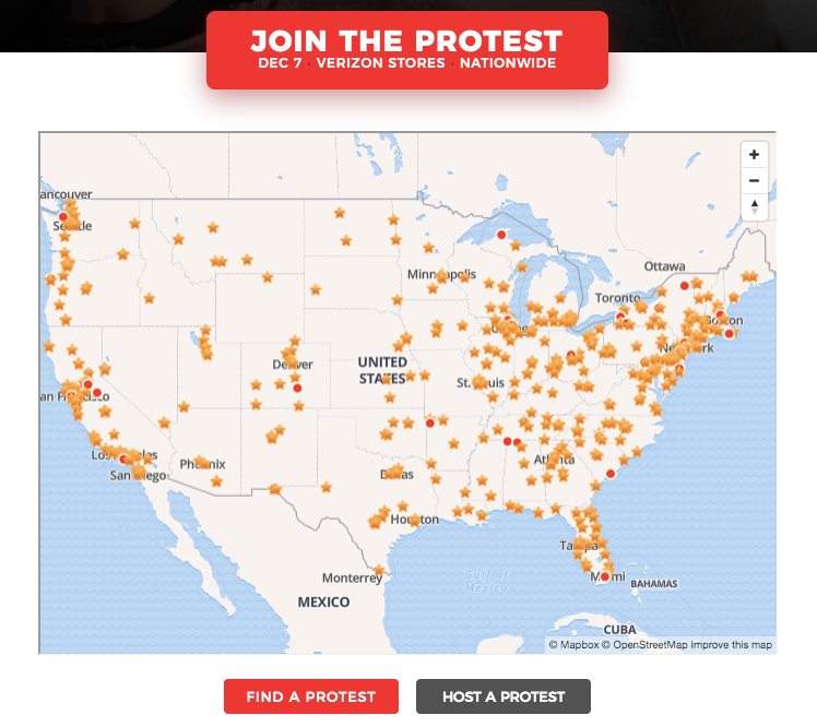 Verizon Store Net Neutrality Protests