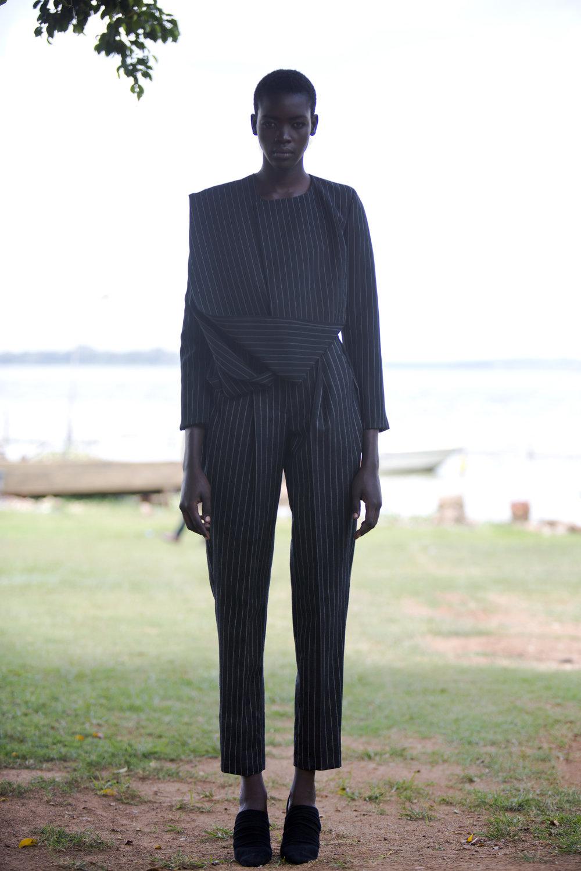 UGPinstrip Trouser suit