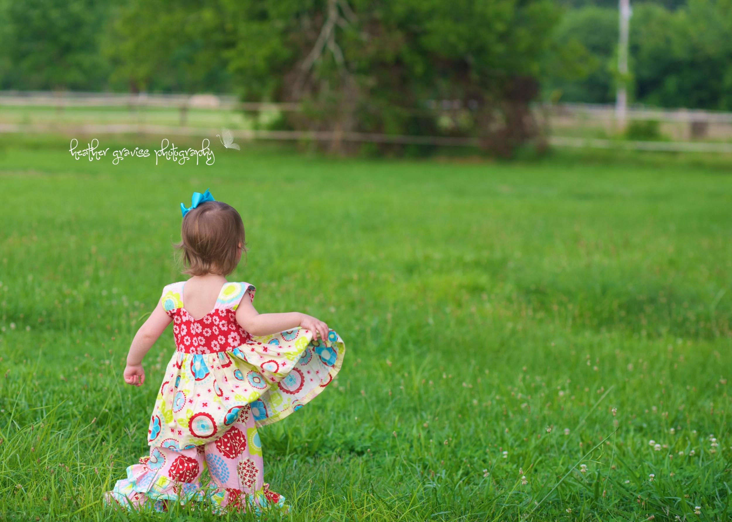 baby girl in field