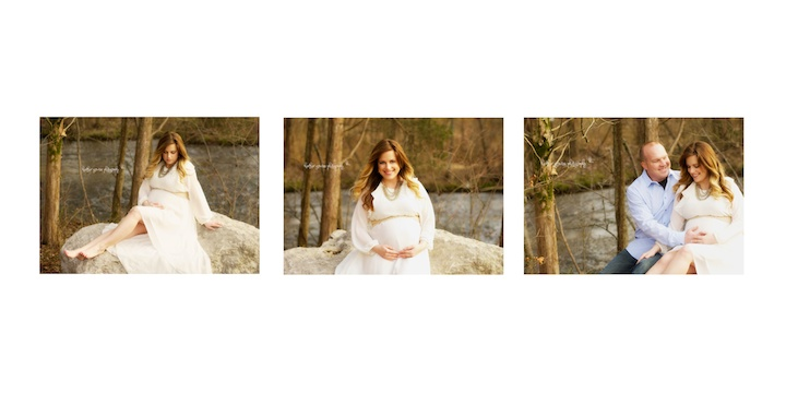 maternity pictures on rocks