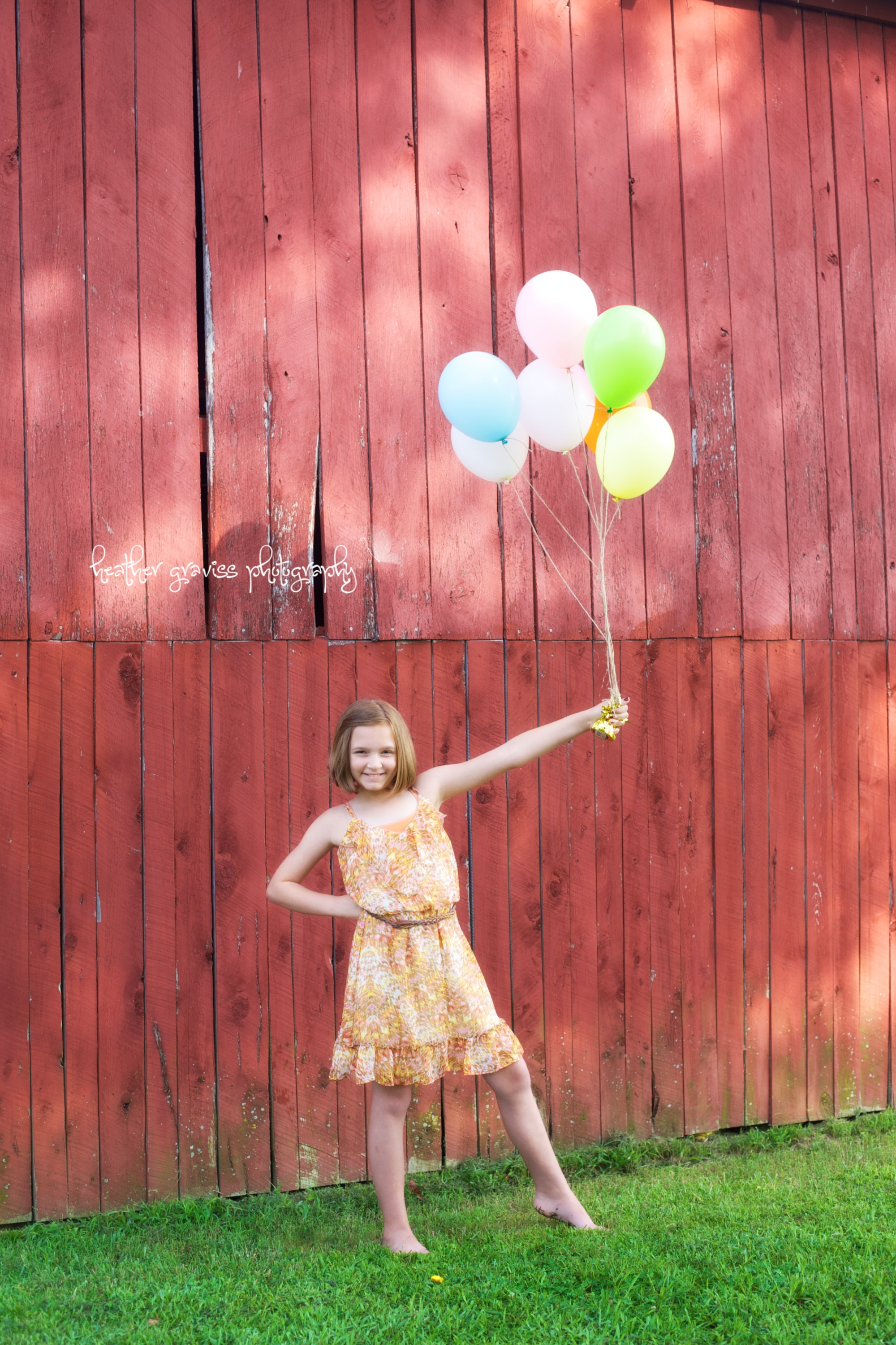 sassy girl with balloons
