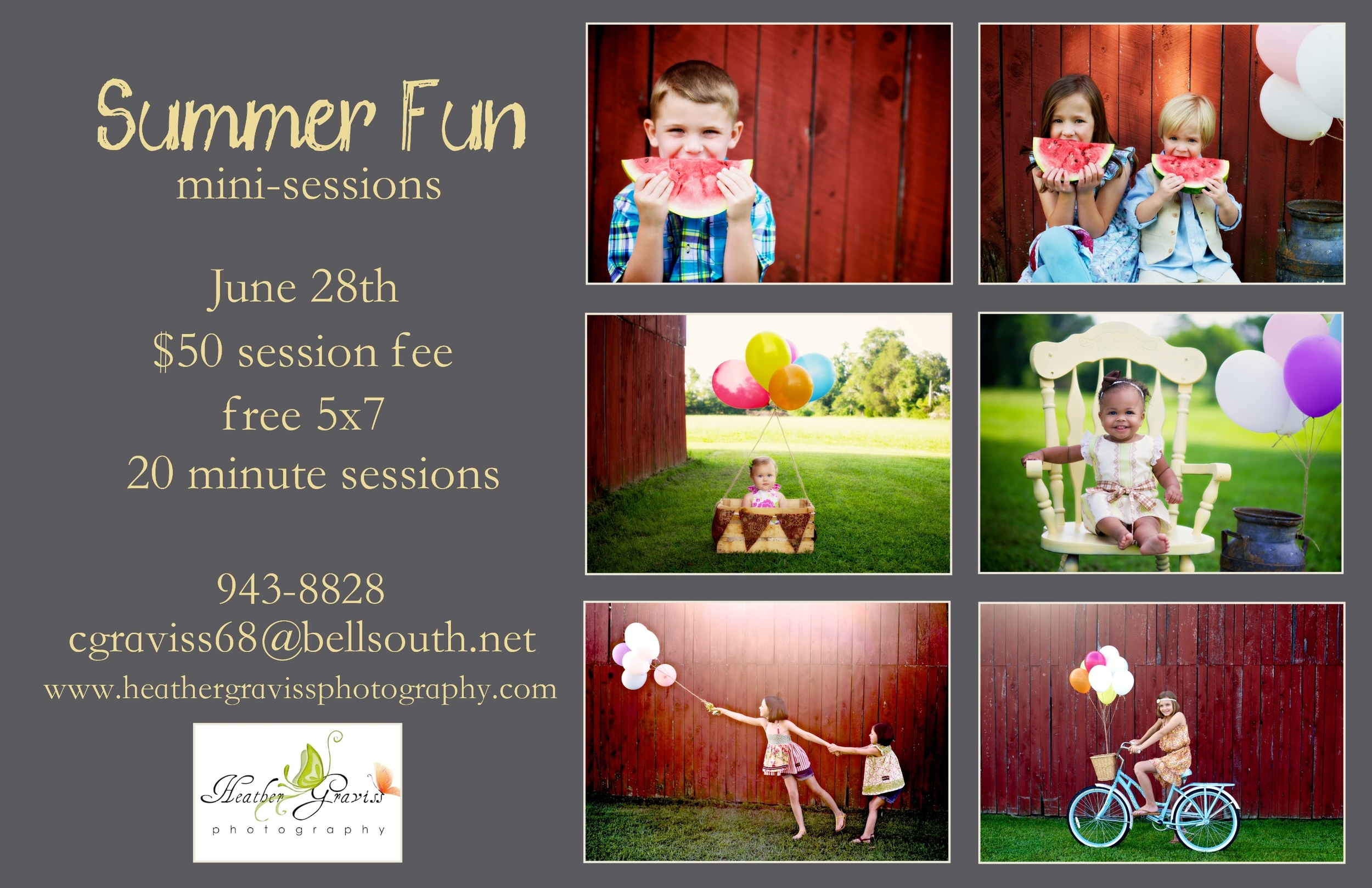 summer fun mini-sessions