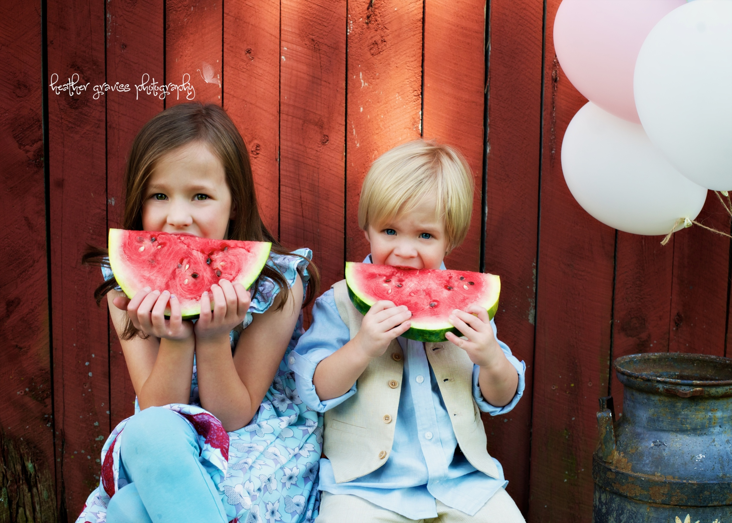 summer watermelon siblings