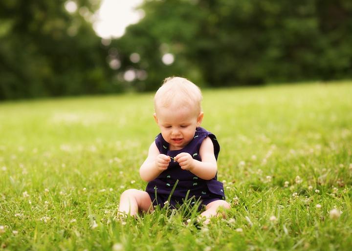 baby in field
