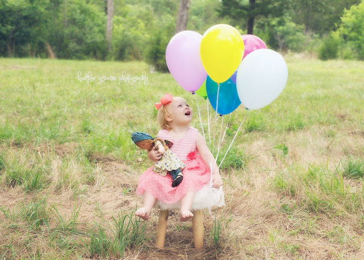 excited about balloons