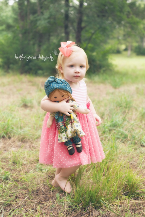 sweet girl and doll