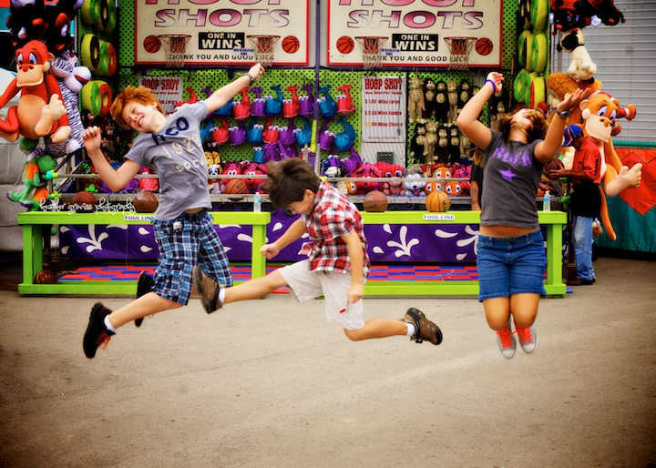 jumping at the fair