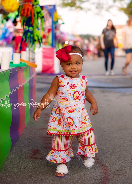 sweet girl at fair