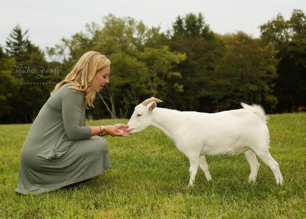 lebanon tn senior feeding goat
