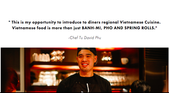 Panelist: Chef  Tu David Phu