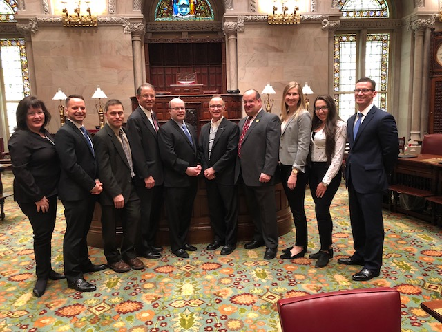 New York State Society of Physician Assistants (NYSSPA) in the New York Senate chambers