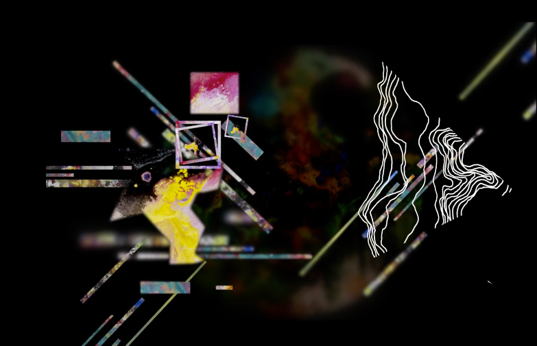 "Looping Video Installation with Audio   Connected film: ""A Study On Painting"" by XUAN"