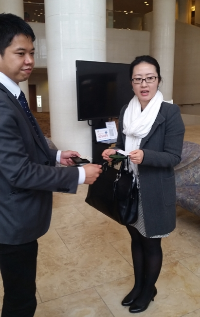 Subject matter experts taught us to properly exchange business cards before meeting with our client and their partners in Japan.