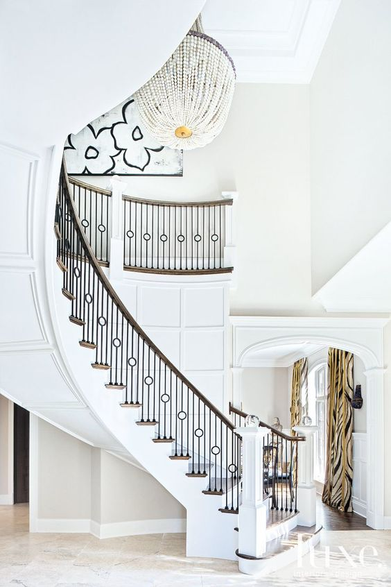 a grand entry in benjamin moore's chantilly lace.