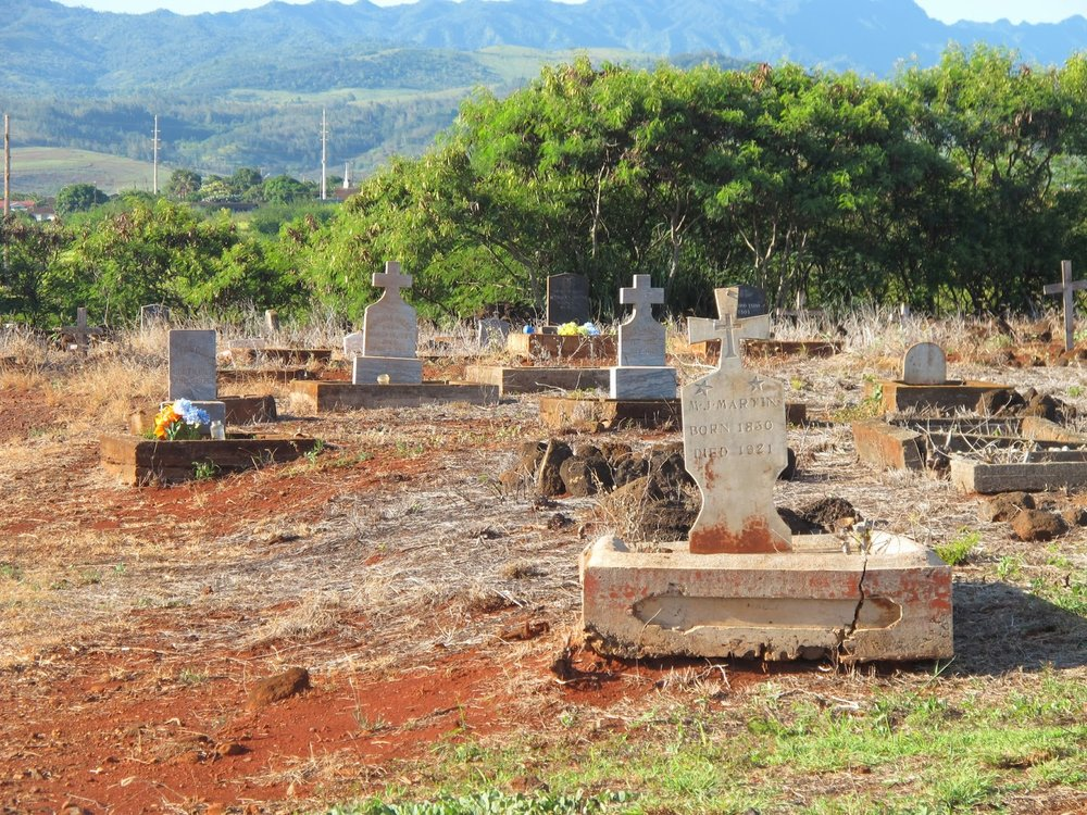 Click on the photo to learn more about the McBryde Sugar Plantation Cemetery