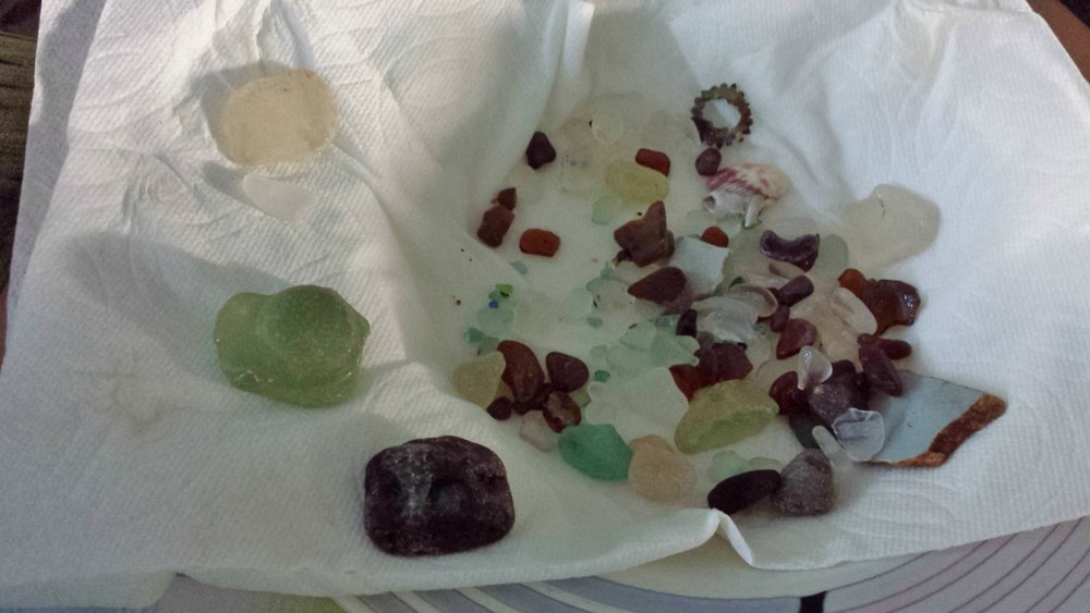 My treasures from Glass Beach Kauai!!
