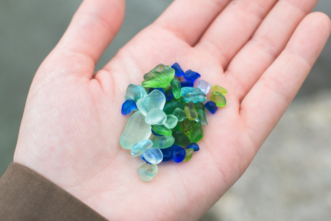 BEACH GLASS from Lake Erie. Click on the photo to view the original source.