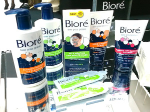 Biore has an affordable line of charcoal-based products specifically dedicated to minimizing the appearance of pores. Buy any of these products at a local CVS/Walgreens for less than $10 each.